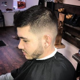 Spiked popular haircut